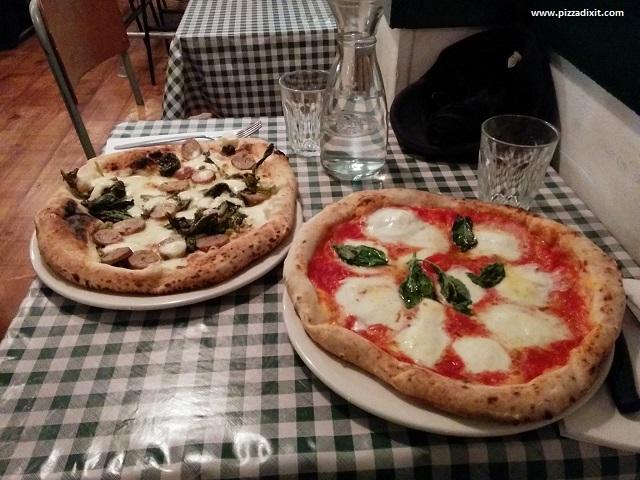 Pizza Pilgrims Bufalina e Salsiccia e Friarielli