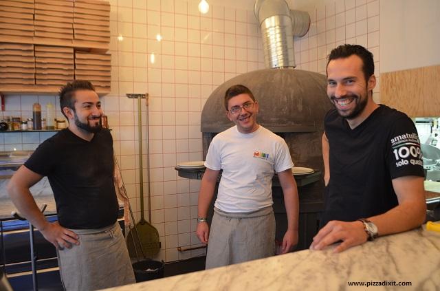 Antica Pizzeria Nennillo, Riccardo Amatulli e il suo staff