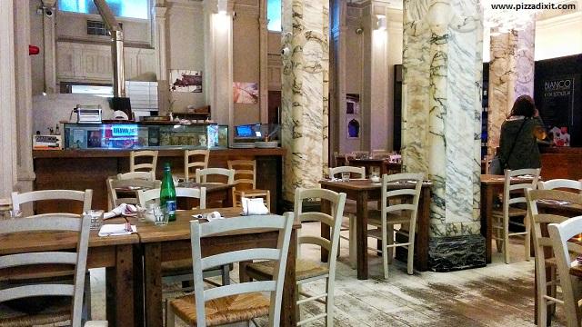 Bianco43 Trafalgar Square, interno pizzeria